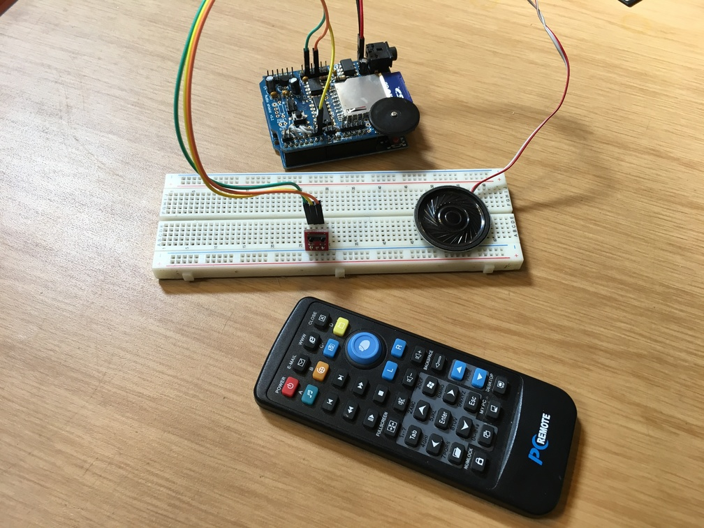 Noiseblanket arduino white noise player with ir remote